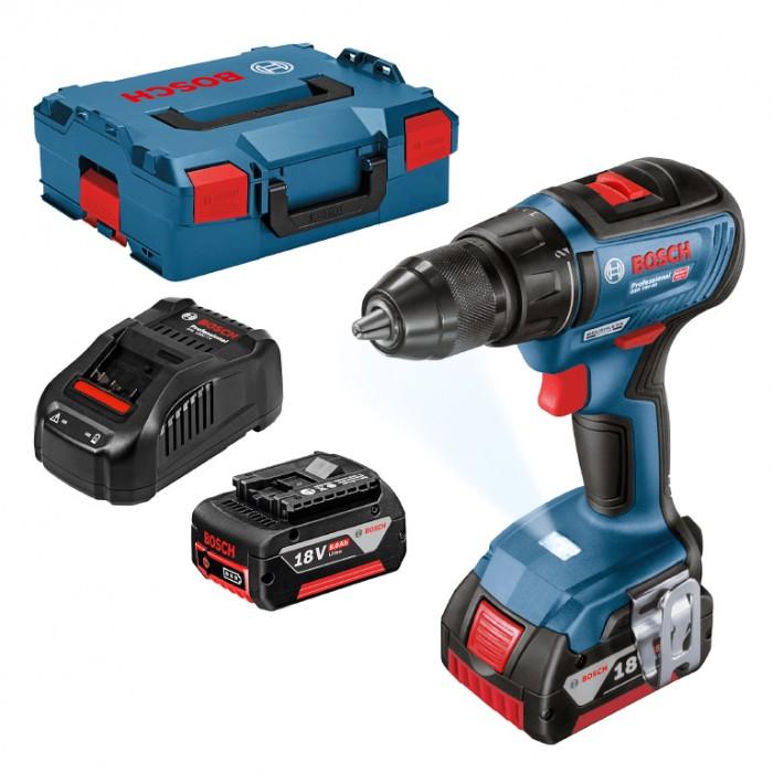 Винтоверт акумулаторен безчетков 18 V, 5 Ah, 50 Nm, 1.5-13 мм, Bosch GSR 18V-50