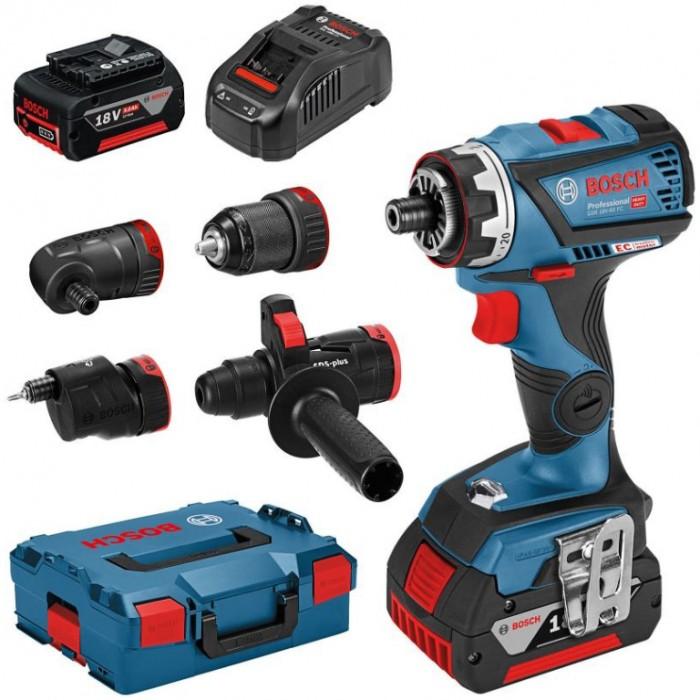 Винтоверт акумулаторен безчетков 18 V, 5 Ah, 60 Nm, 1.5-13 мм, Bosch GSR 18V-60 FC