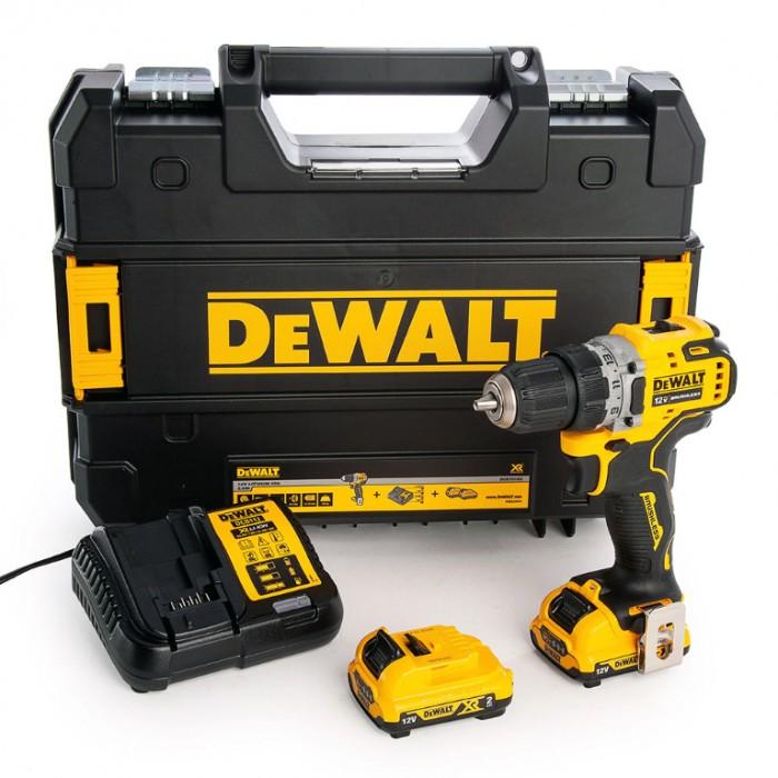 Винтоверт акумулаторен безчетков 12 V, 2 Ah, 57.5 Nm, 1.5-10 мм, DeWALT DCD701D2