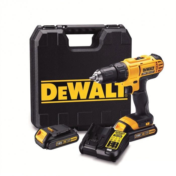 Винтоверт акумулаторен 18 V, 1.3 Ah, 42 Nm, 1.5-13 мм, DeWALT DCD771C2
