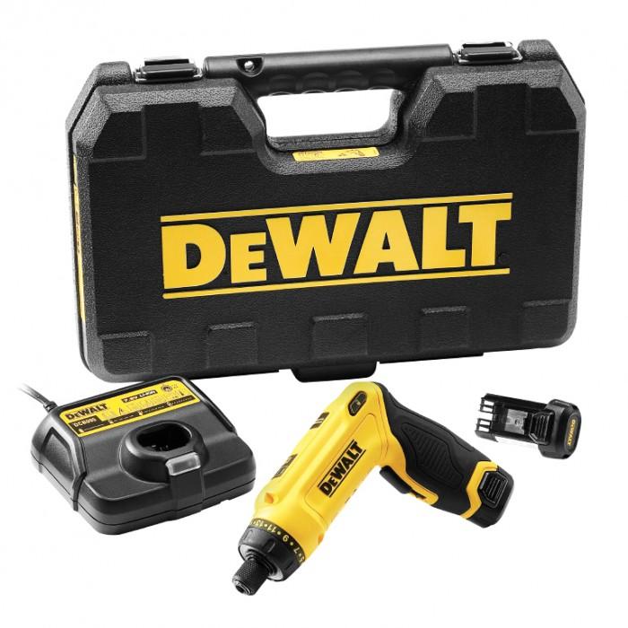 Винтоверт акумулаторен 1-скоростен 7.2 V, 1 Ah, 0-430 об./мин, 4 Nm, DeWALT DCF680G2
