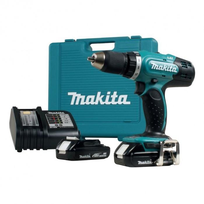 Винтоверт акумулаторен 2-скоростен 18 V, 3 Ah, 42 Nm, 1.5-13 мм, Makita DDF453RFE