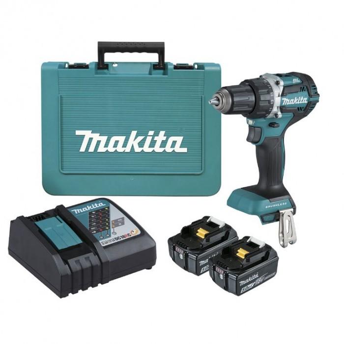 Винтоверт акумулаторен 2-скоростен безчетков Makita DDF484RTE