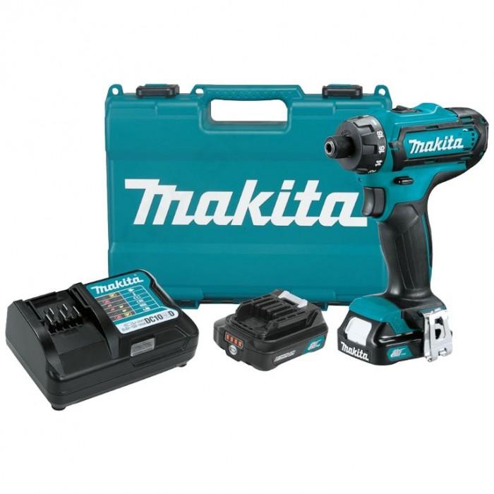 Винтоверт акумулаторен 2-скоростен 12 V, 2 Ah, 30 Nm, Makita DF033DWAE