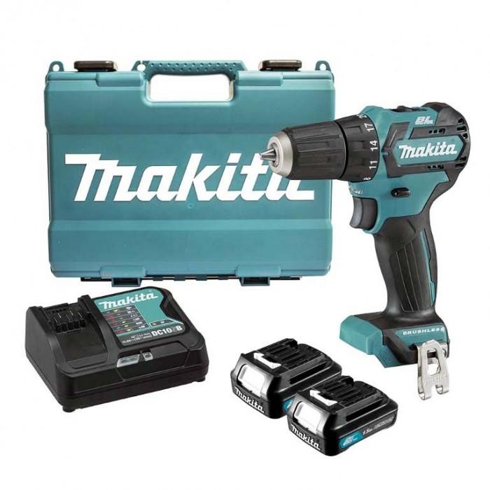 Винтоверт акумулаторен 2-скоростен безчетков Makita DF332DWYE