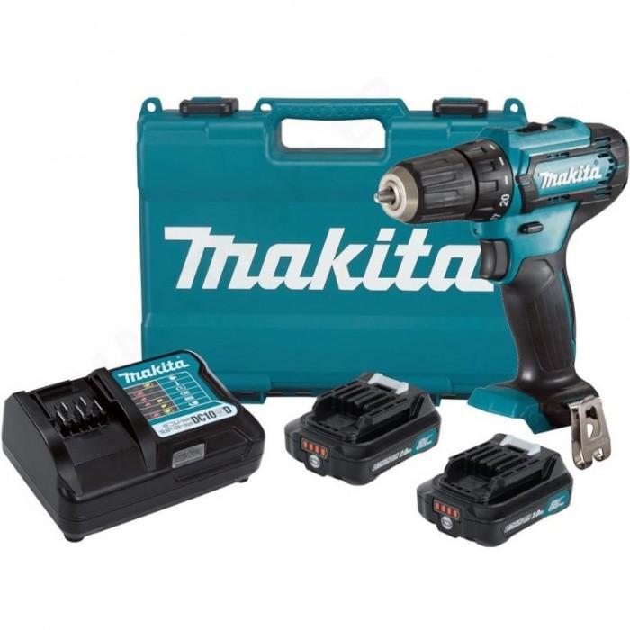 Винтоверт акумулаторен 2-скоростен 12 V, 2 Ah, 30 Nm, 0.8-10 мм, Makita DF333DWAE