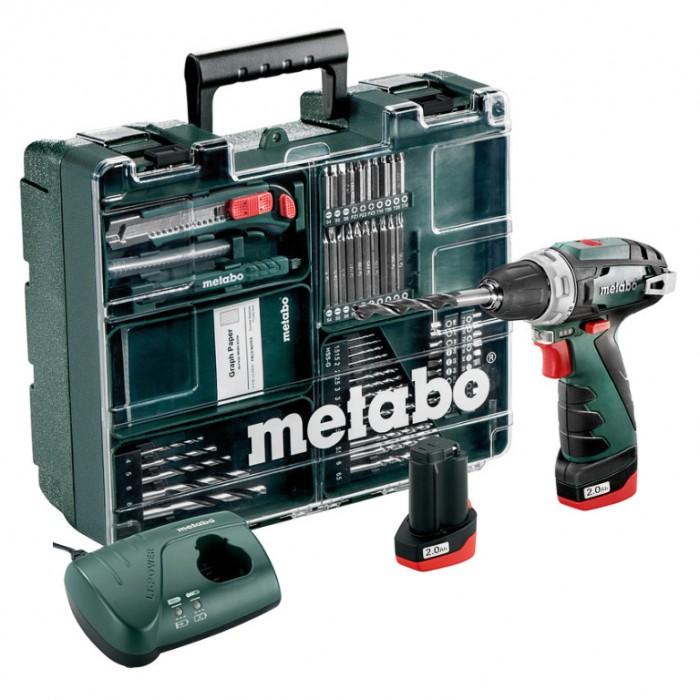 Винтоверт акумулаторен 2-скоростен 10.8 V, 2х2 Ah, 34 Nm, Metabo PowerMaxx BS Basic