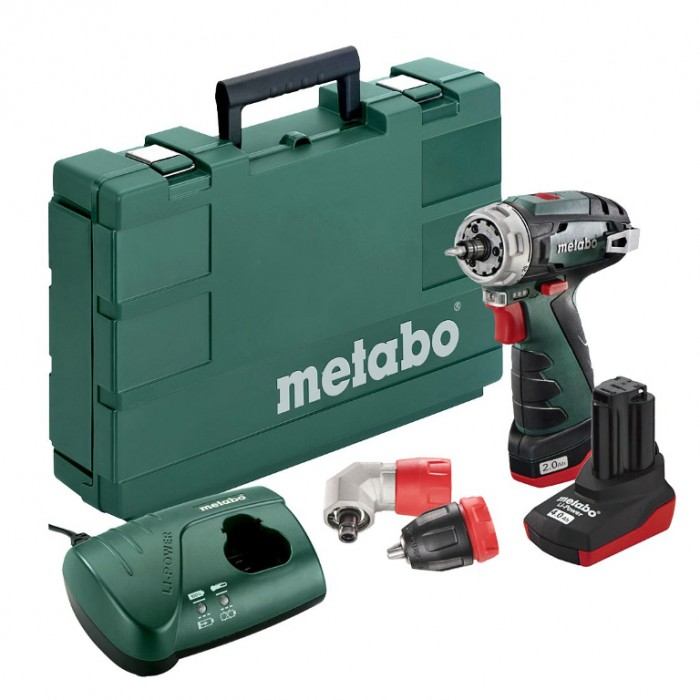 Винтоверт акумулаторен 2-скоростен 10.8 V, 2 Ah, 34 Nm, Metabo PowerMaxx BS Quick Pro